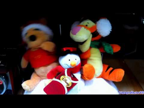 Winnie the Pooh and Tigger plush toys Christmas 2011 singing dancing