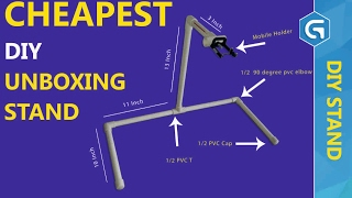 Cheapest DIY Unboxing Stand or Tripod in Hindi By Gujtech