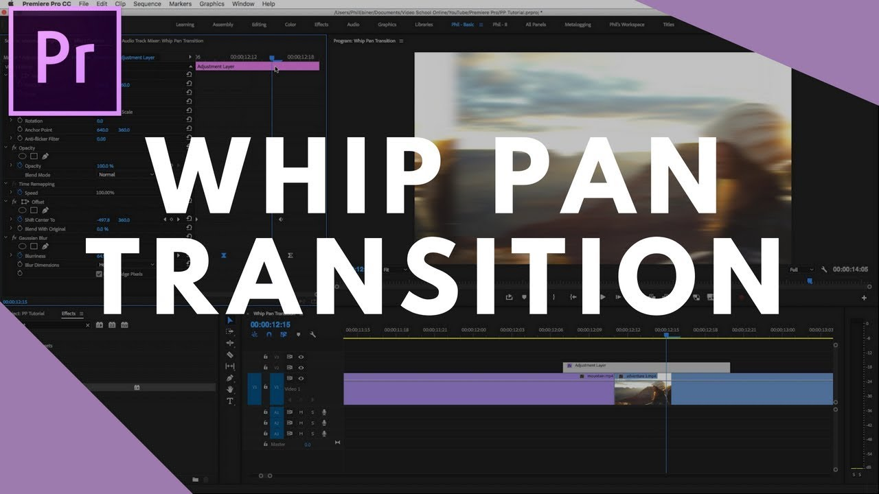 Whip Pan Transition Tutorial in Premiere Pro