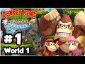 Donkey Kong Country Tropical Freeze - Part 1 - World 1 Co-Op: Mangrove Cove 100% 1080p Wii U HD