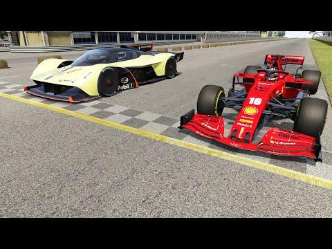 Aston Martin Valkyrie AMR Pro vs F1 Ferrari SF1000 2020 at Monza Full Course