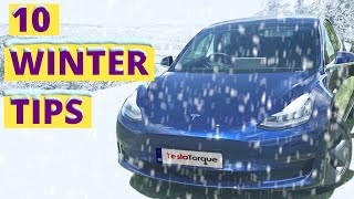 Tesla Winter Driving Tips for the Model 3 | Top 10 tips for winter driving an EV