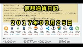 仮想通貨日記 【127】2017年09月25日 thumbnail