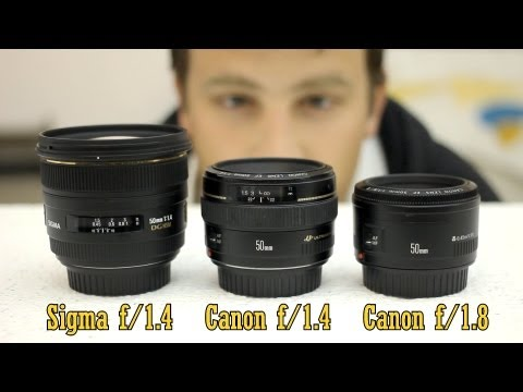 50mm lens battle: Sigma f/1.4, Canon f/1.4, Canon f/1.8