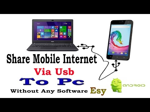 Share Mobile Internet Via USB To Pc/Laptop Without Root,USB Tethering