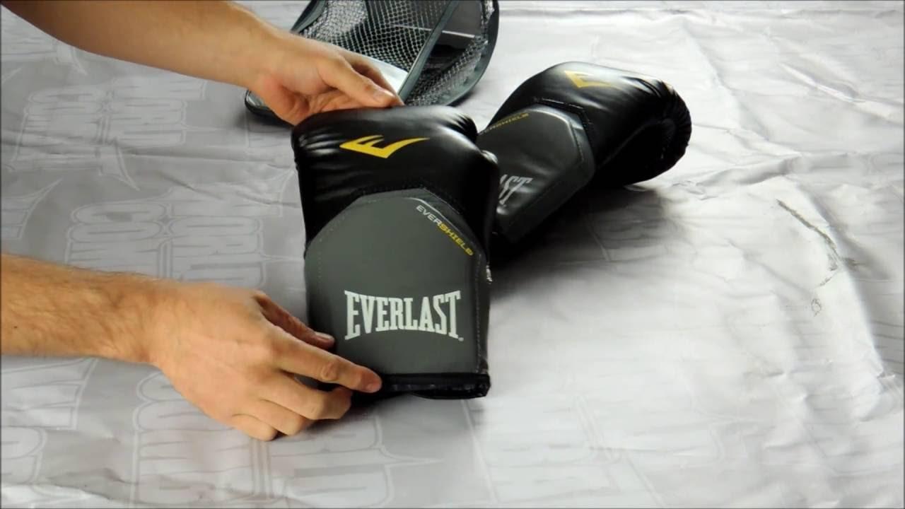 Luva Everlast Pro Style Elite Evershield - Preto - YouTube e754ab7253a80