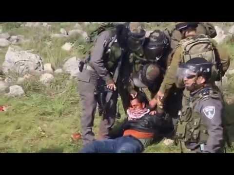 IDF Beating & Kicking Palestinian