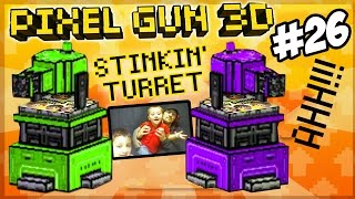 Mike & Dad play Pixel Gun 3D! Stinkin' Turret, No One Likes You!!!!!!!!!! (Face Cam Part 26)