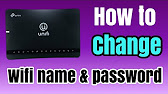 how to change wifi name and password- tm unifi - YouTube