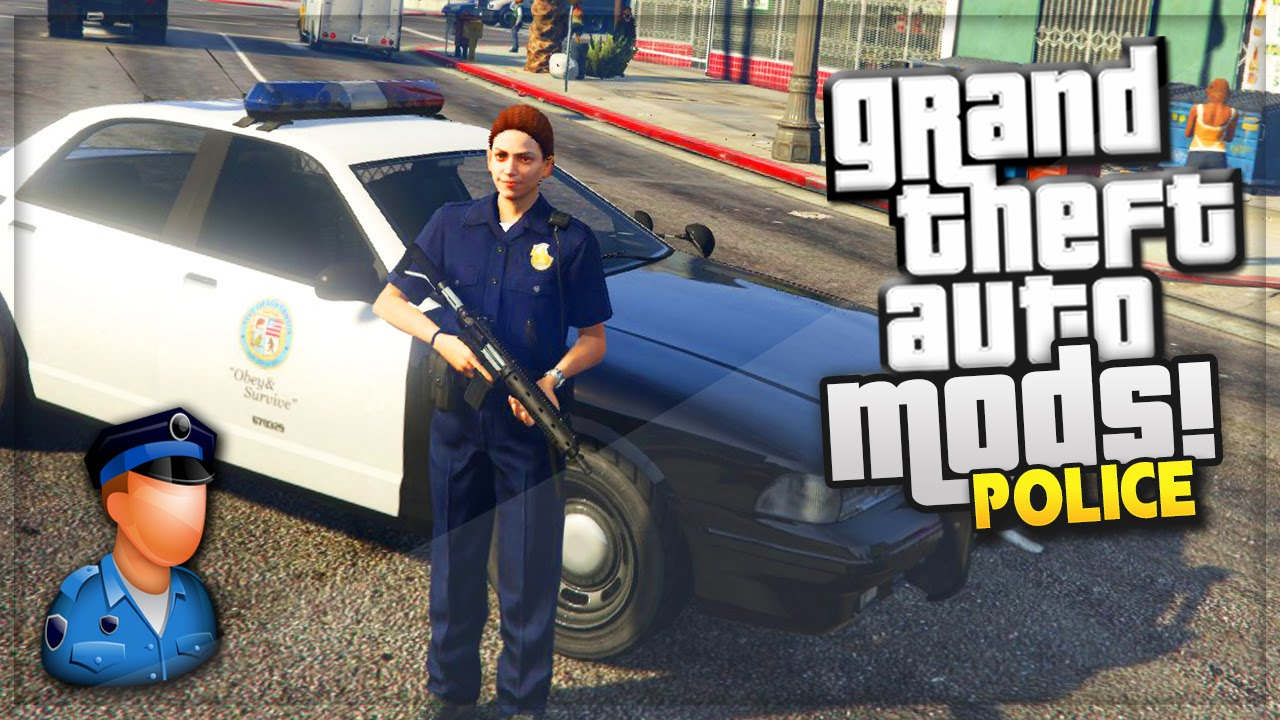 GTA 5 PC Mods! PLAYING AS THE POLICE IN LOS SANTOS (GTA 5