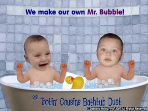 tootin 39 bathtub baby cousins youtube. Black Bedroom Furniture Sets. Home Design Ideas