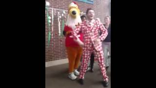 Dance Student Holiday Jig with Santa-Zippy