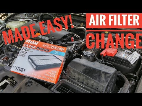 Honda Civic Air Filter Change 2016 2017 2018 2019 Made Easy!
