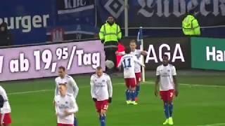 1:0 HSV gegen Dynamo Dresden durch Lewis Holtby in der 84. Minute