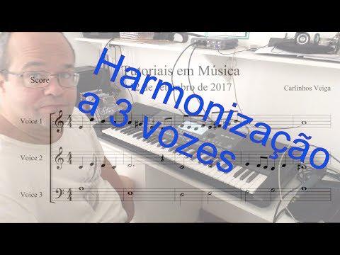 Harmonizando uma melodia a 3 vozes - Tutoriais em Música