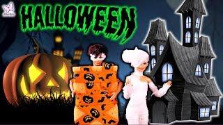 Rodzinka Barbie * MUMIA I KEN PRZEBRANY ZA GĄBKĘ * Bajka po polsku z lalkami Halloween Video