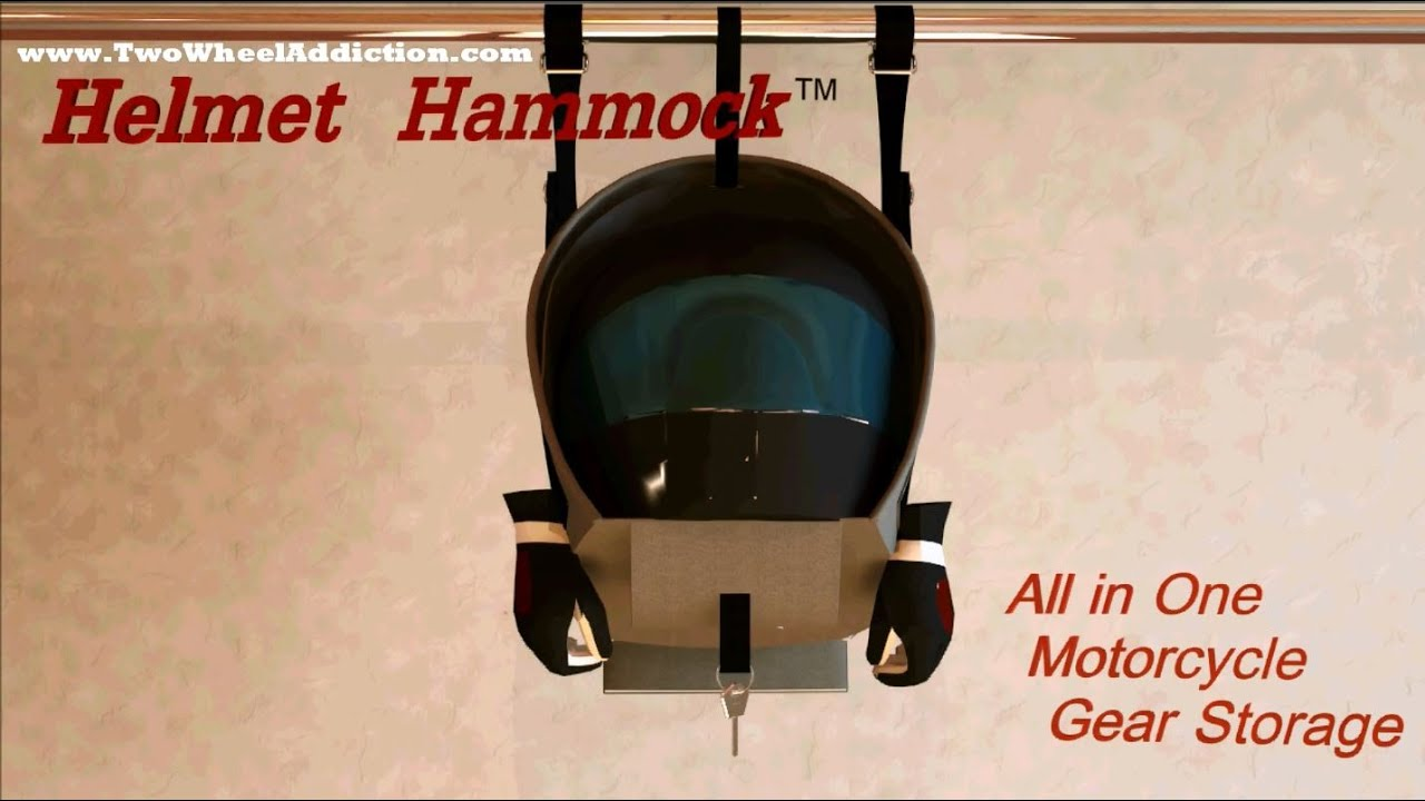 Amazing Motorcycle Helmet Hammock U0026 Gear Storage     By: Two Wheel Addiction