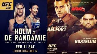 Holly Holm vs GDR at UFC 208; Belfort vs Gastelum at UFC Fortaleza; Cerrone & Masvidal on Twitter