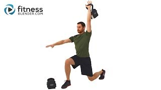 Non-Stop Endurance Kettlebell Workout - 33 Minute Total Body Kettlebell Routine