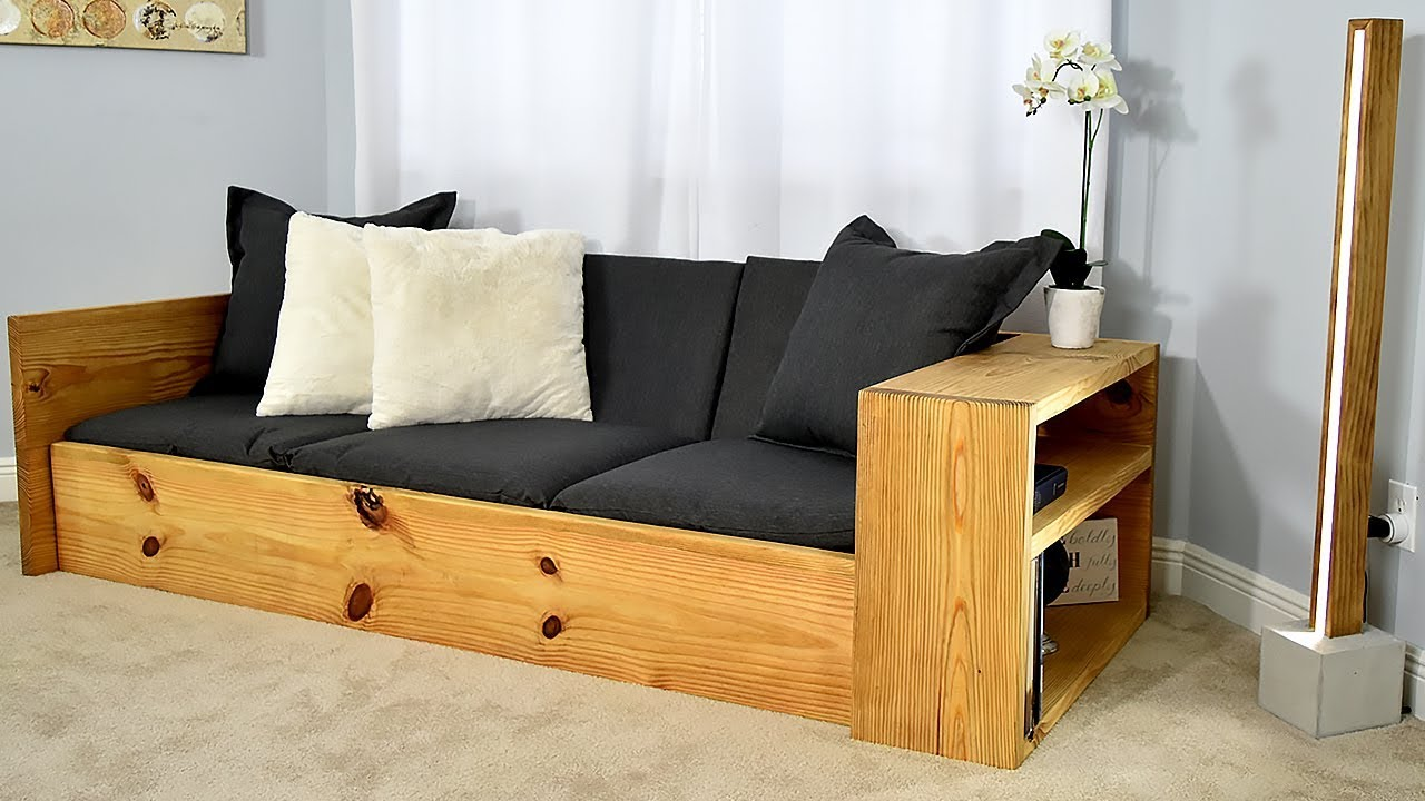 DIY Sofa Bed / Turn this sofa into a BED : homemade-couches - designwebi.com