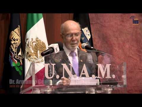 Toma de protesta del Dr. Armando Soto Flores, Jefe de la división de posgrado de la F. de Derecho