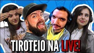 JOVENS REAGEM A TIROTEIO NO MEIO DA LIVE | LIVES ENGRAÇADAS - UM GAMER ALEATORIO