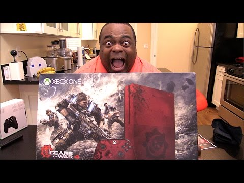 OMG...XBOX ONE S GEARS OF WAR 4 BUNDLE UNBOXING!
