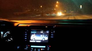 Toyota Rav4 Hybrid XLE Driving In The Snow 2016 01 23