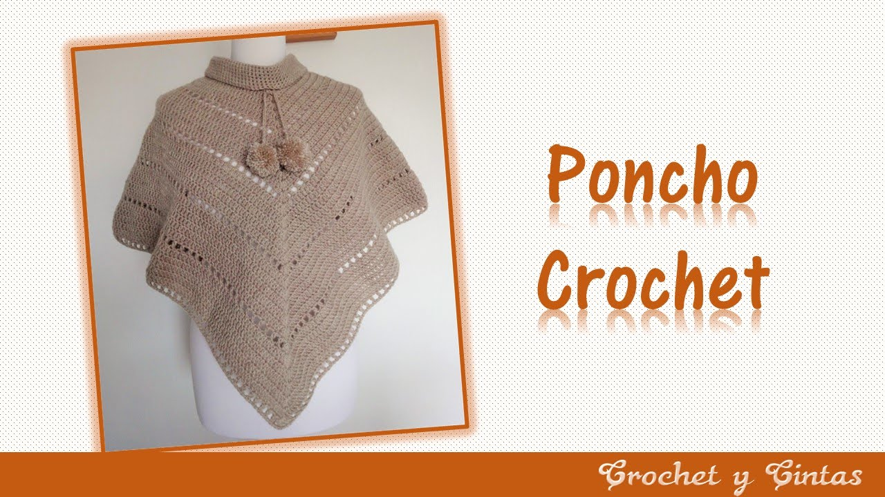 Poncho estilo V tejido a crochet (ganchillo) - YouTube