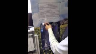 Видео работы МОЛОКОМАТА производство Сенсорные киоски(Видео работы автомата по розливу свежего молока