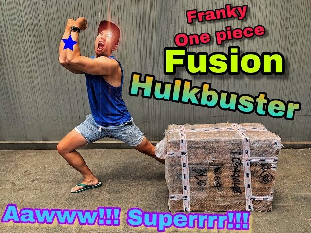 AWW SUPERR RARE!!  FIRST IN INDONESIA!!  UNBOXING STATUE RESIN FRANKY ONE PIECE!!! by MQ STUDIO