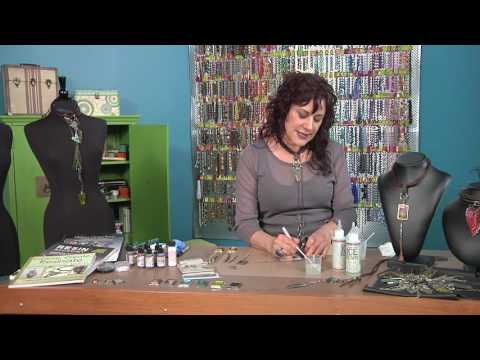 Susan Lenart Kazmer adds tints, glitter, and more to resin on Beads, Baubles and Jewels (2509-1)