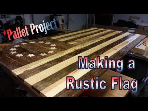 Rustic Betsy Ross American Flag Pallet Project with Cut List!!!