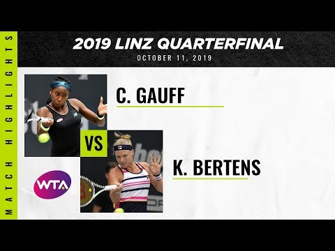 Coco Gauff vs. Kiki Bertens | 2019 Linz Quarterfinal | WTA Highlights