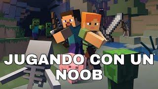 Minecraft pe con un noob