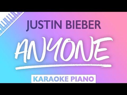 Justin Bieber - Anyone (Karaoke Piano)