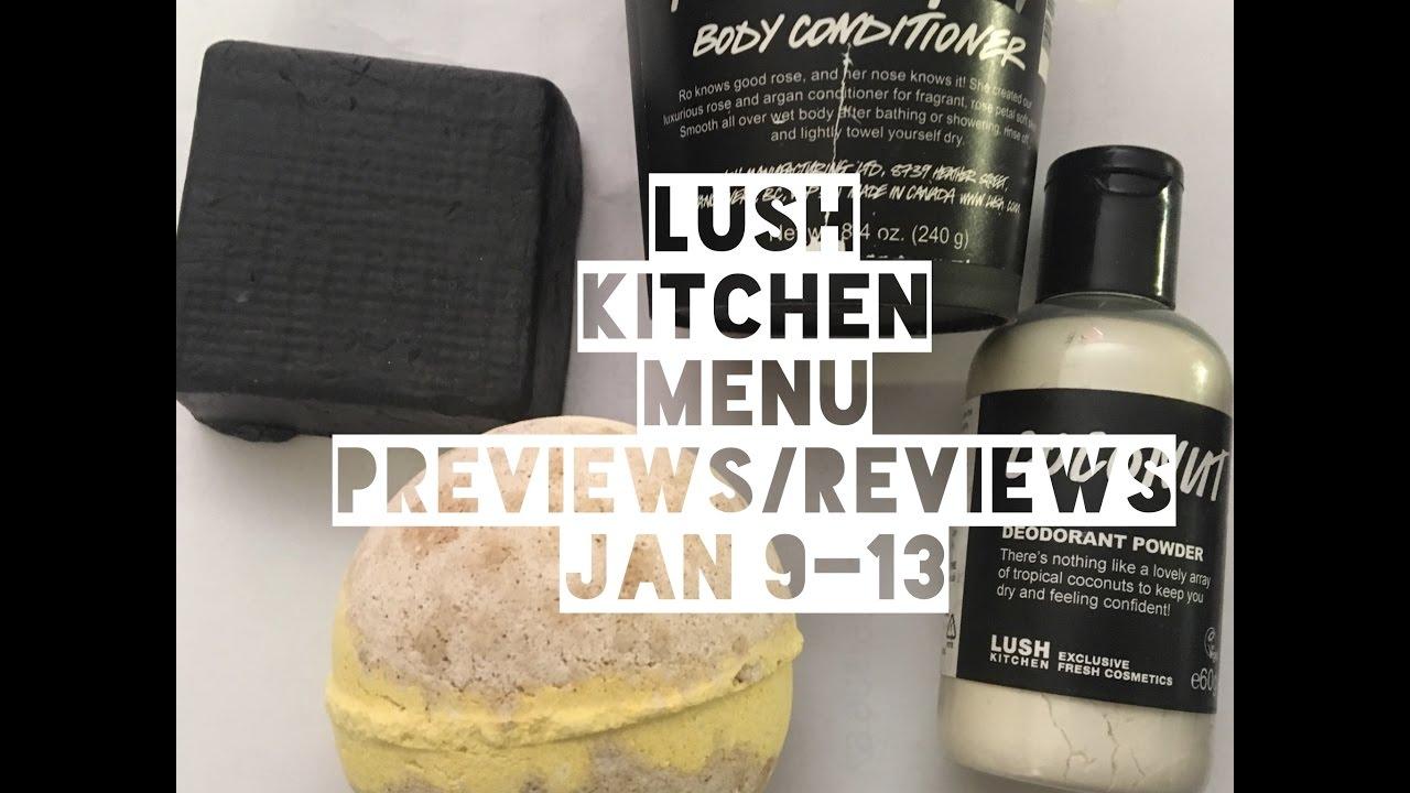 Lush Kitchen Menu Preview Reviews Jan 9-13 - YouTube