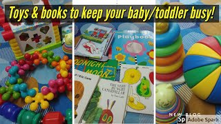 Best Educational & Learning Toys For 1 To 3 Year Old| Toys & Books To Keep Your Baby/toddler Busy