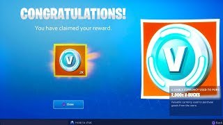 *NEW* FREE V-BUCKS REWARD in Fortnite! (Fortnite Update 9.01 REWARDS)