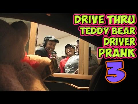 Drive Thru Teddy Bear Driver Prank 3
