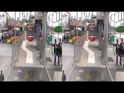 3D - Santa Cruz Beach Boardwalk - Various Clips