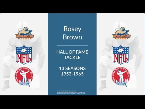 Rosey Brown Hall of Fame Football Tackle