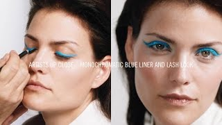 HOW TO: Monochromatic Blue Liner and Lash Look I M·A·C ARTISTS UP CLOSE