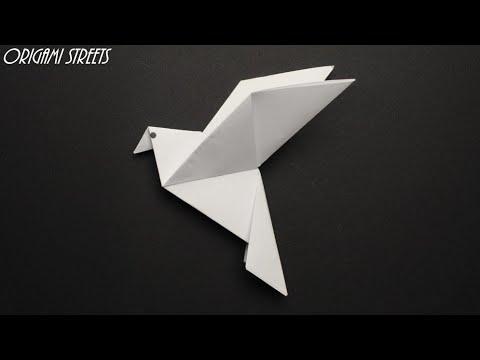 птица оригами голубь схема для начинающих  Оригами из бумаги