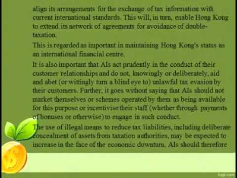 Hong Kong Monetary Authority   Tax Evasion