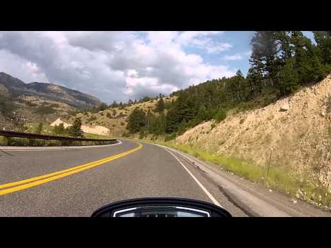 Ride through the Shell Canyon, WY - Hwy 14, Bighorn National Forest.
