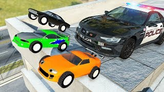 Beamng drive - Real Cars vs Toy Сars #10