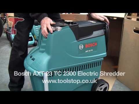 bosch axt 23 tc 2300 w electric shredder youtube. Black Bedroom Furniture Sets. Home Design Ideas