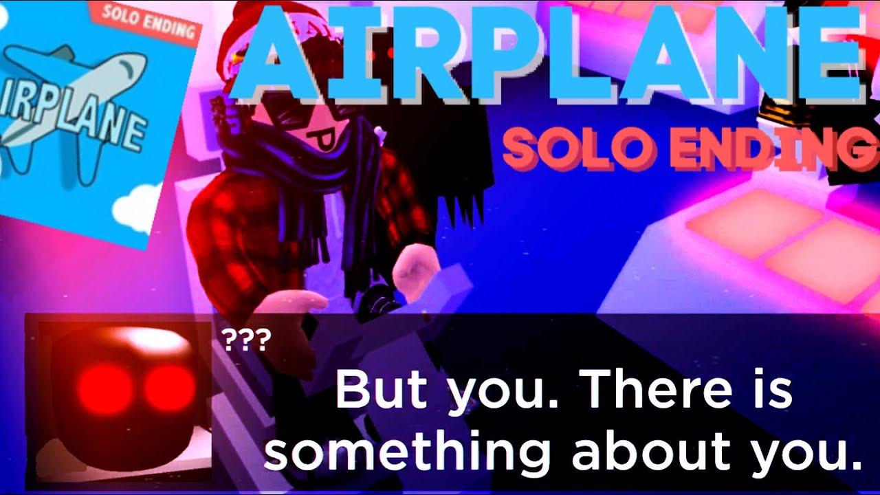 Roblox Airplane Story Endings - Airplane Solo Ending Walkthrough Roblox