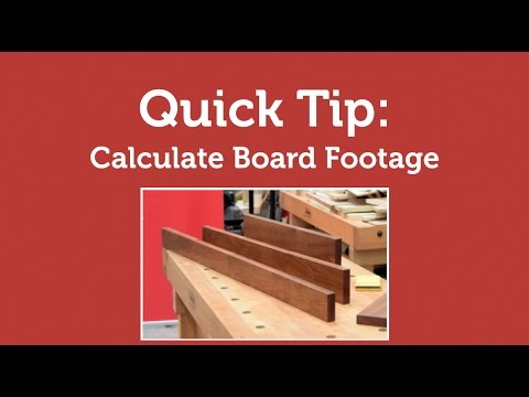 Convert board feet to square feet